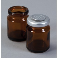 Flacons ambrés en verre