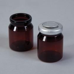 Flacons ambrés en plastique