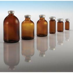 flacons stériles en verre ambré