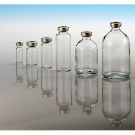 flacons stériles en verre
