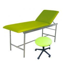 Kit divan d'examen + tabouret vert pomme