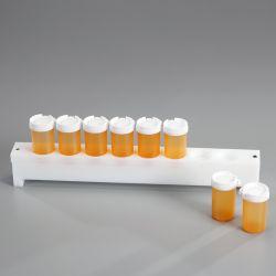 Support pour flacon plastique avec couvercle inviolable