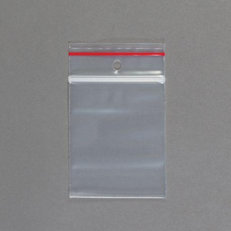 Sacs transparents double glissière