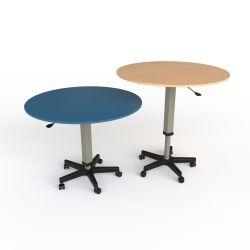 Table d'activité ronde à hauteur variable