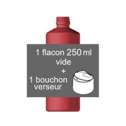 Flacon PET 250 ml + bouchon clapet verseur