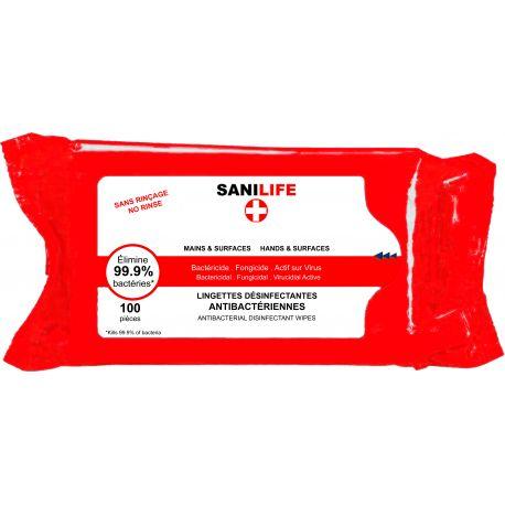 Lingettes désinfectantes Sanilife
