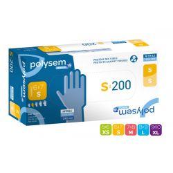 Gants d'examen Nitrile Polysem Medical® - Boîte de 200