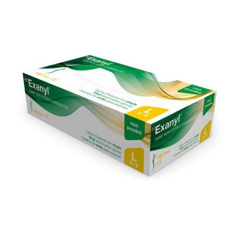 Gants d'examen Vinyle Exanyl® non poudrés - Boîte de 100