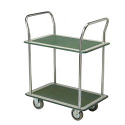 Chariot vert double plateau