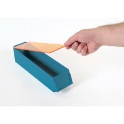 Bac de rangement avec couvercle teinté
