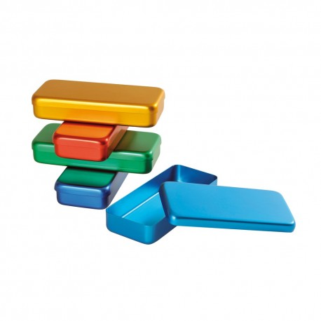 boîtes aluminium de couleur
