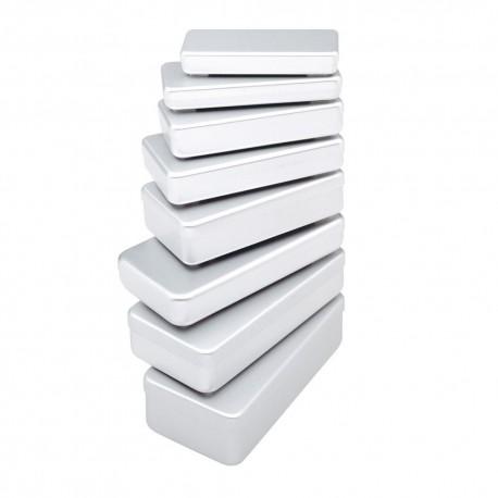 boîtes aluminium grises