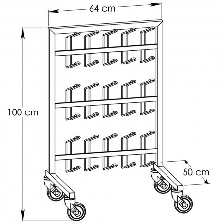 chariot porte-sabots