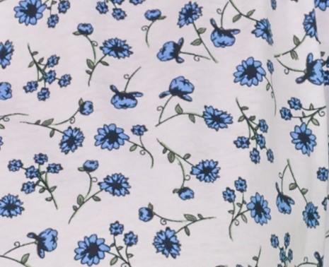 Imprimé fleurs bleues