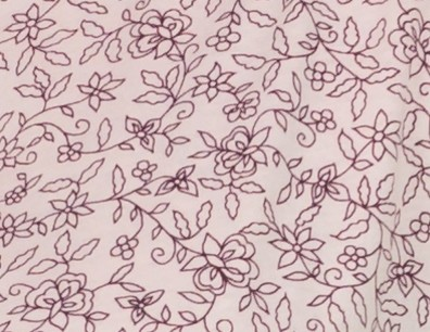 Imprimé rose fleurs prunes