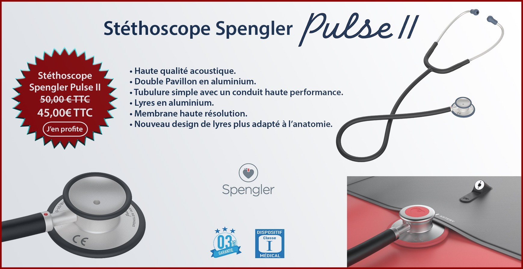 Stéthoscope Spengler Pulse II